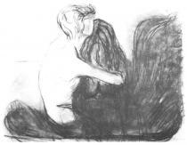 Útěcha. Uhel. 1894. 47,8 × 63,2.