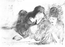 Agónie. Tuha. 1895. 22,3 × 31,8.