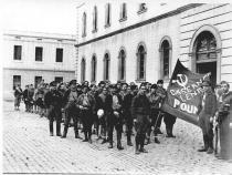 Leninovy kasárna v Barceloně, kde Orwell prošel týdenním výcvikem před nástupem na frontu