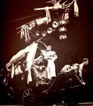Matka Kuráž a její děti - inscenace v mnichovském divadle Munich Kammerspiele z roku 1950 v režii Bertolta Brechta
