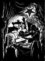 Černá mše - dřevoryt J. Hodek
